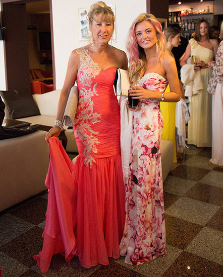 Custom Prom Coral Dress and Printed Dress