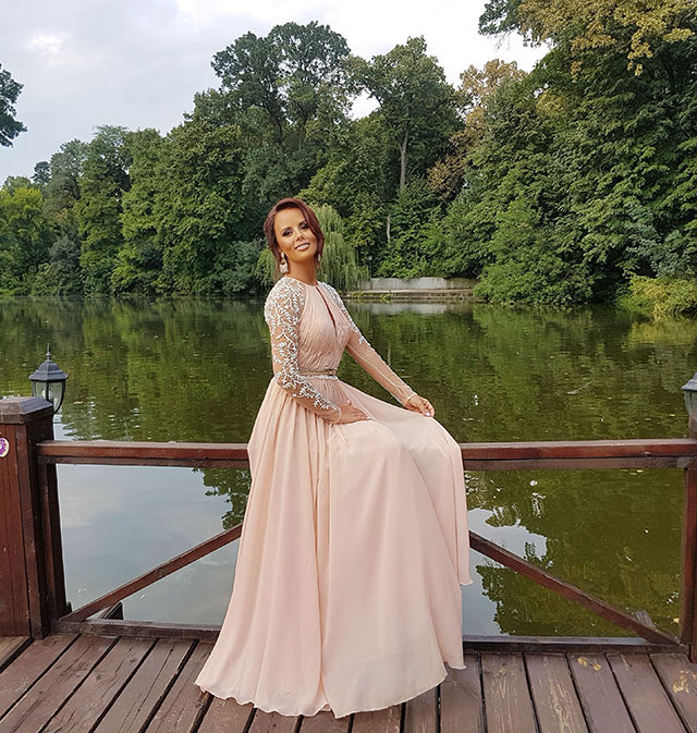 Long Sleeves Prom Dress Evening Gown