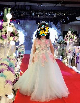 V Neck Flower Girl Dress, Ball Dress for Girls