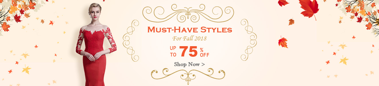 2018 fall must-haves evening wears Sale